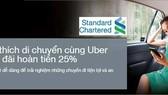Standard Chartered hợp tác Uber