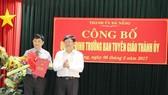 Đồng chí Đặng Việt Dũng giữ chức vụ Trưởng Ban Tuyên giáo Thành ủy Đà Nẵng
