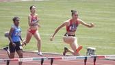 Quách Thị Lan (845) phá kỷ lục quốc gia ở vòng loại cự ly 400m rào nữ tại Asiad 2018. Ảnh: DŨNG PHƯƠNG