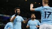 """Man City - Leicester 5-1: Aguero lập """"cú poker"""",Man xanh đè bẹp cựu vương"""