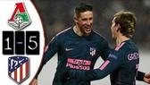 Lokomotiv - Atletico 1-5 (chung cuộc 1-8): Thầy trò Diego Simeone nghiền nát đối thủ