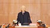 Tổng Bí thư Nguyễn Phú Trọng phát biểu tại cuộc họp của Thường trực Ban Chỉ đạo Trung ương về phòng chống tham nhũng. Ảnh: TTXVN