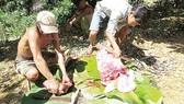 """Ngay sau khi Báo SGGP phản ánh thịt rừng """"tắm"""" hóa chất, kiểm lâm Quảng Bình đã nhanh chóng vào cuộc kiềm tỏa săn bắn ĐVR trái phép."""