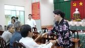 Chủ tịch Quốc hội Nguyễn Thị Kim Ngân tiếp xúc cử tri quận Ninh Kiều - Cần Thơ vào chiều 4-5