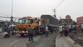 Tai nạn giao thông ở đường Nguyễn Hữu Trí, huyện Bình Chánh