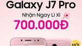 Galaxy J7 Pro màu hồng cho phái nữ