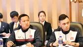 Đại diện đội Việt Nam dự buổi họp kỹ thuật vào ngày 19-10. Ảnh: Anh Trần