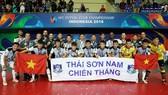 Đội Thái Sơn Nam với ngôi Á quân châu Á 2018. Ảnh: ANH TRẦN