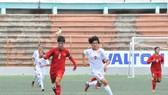 Đội U16 nữ Việt Nam giữ vững ngôi đầu bảng sau khi thắng Lebanon 7-0. Ảnh: Đoàn Nhật