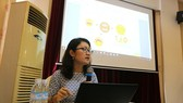 Le Thi Lan Phuong, a programme officer at UN Women Vietnam, speaks at the workshop (Photo: VNA)