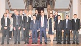 Chairman of the People's Committee of HCM City Nguyen Thanh Phong and the delegation of Sweden's Uppsala County