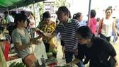 At a safe farm produce fair