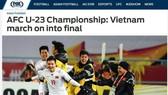 Các chàng trai U23 Việt Nam chiếm trọn cảm tình của báo chí châu Á.