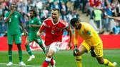 Denis Cheryshev rạng ngời sau khi ghi dấu ấn lịch sử tại World Cup 2018.
