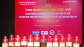 Các VĐV, HLV tiêu biểu năm 2018 tại buổi lễ Vinh quang thể thao Việt Nam.