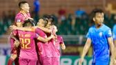 CLB Sài Gòn có chiến thắng dễ dàng 4-2 trước An Giang. Ảnh: Dũng Phương