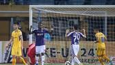 Trận thắng đậm 4-0 của Hà Nội ở lượt đi. Ảnh: Minh Hoàng