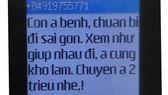 Một trong những tin nhắn vòi tiền của thẩm phán Toàn. Ảnh: HOÀNG LỘC