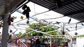 Trường mẫu giáo Tân Hưng Đông bi hư hỏng nặng sau trận lốc xoáy