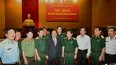 Thủ tướng Nguyễn Xuân Phúc dự hội nghị Quân chính toàn quân. Ảnh: VGP