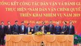 Ký kết kế hoạch phối hợp thực hiện Năm dân vận chính quyền 2019