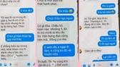 """Tin nhắn """"gạ tình"""" của thầy giáo bị phát tán trên mạng"""