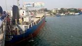 """Tàu chở hàng """"khủng"""" hơn ngàn tấn va vào cầu Đồng Nai"""