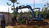 Việc khai quật được bắt đầu diễn ra từ lúc 9 giờ