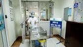 The isolated area for measles patients at Hanoi's Hospital of Pediatrics (Photo: VNA)