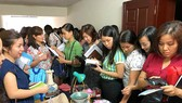 A get-together for members of a freeshop group to directly exchange their unused items