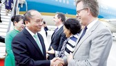 Vietnamese Prime Minister Nguyen Xuan Phuc and his wife arrive in Schiphol Amsterdam airport