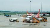 Airplanes at Noi Bai International Airport in Hanoi (Photo: VNA)