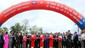 The inauguratation ceremony of Le Thanh (Gia Lai province)- Oyadav (Ratanakiri province) border gate route.