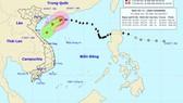 Position of typhoon Khanun