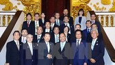 At the reception with Japanese guests (Source: VNA)
