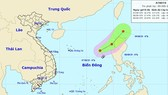 A newly- formed tropical low pressure in the East Sea (Photo: NHFC)