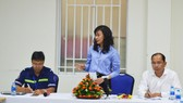 Phó Chủ tịch UBND TP Nguyễn Thị Thu phát biểu tại buổi làm việc