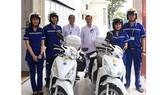 2 xe cấp cứu cơ động 2 bánh của Trạm Cấp cứu vệ tinh 115, Bệnh viện Đa khoa Sài Gòn