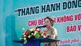 Bà Phạm Khánh Phong Lan, Trưởng Ban Quản lý ATTP TPHCM phát động Tháng hành động vì an toàn thực phẩm
