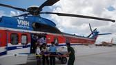 Cấp cứu chiến sĩ tại Trường Sa về đất liền bằng trực thăng