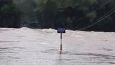 Cầu Sông Rin bị ngập sáng nay