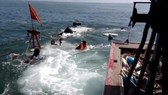 Tàu vận tải bị chìm khi ra đảo Lý Sơn, thiệt hại gần 5 tỷ đồng
