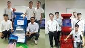 Sinh viên chế tạo máy tách hạt bắp và máy tách vỏ đậu phộng