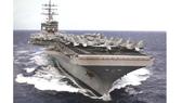 Tàu sân bay USS Ronald Reagan tham gia cuộc tập trận chung. Ảnh: Reddit