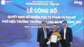 PGS.TS Phạm Vũ Phi Hổ được bổ nhiệm làm Phó Hiệu trưởng Đại học Bà Rịa – Vũng Tàu