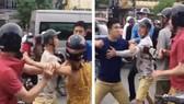 Hai thanh niên đánh một thanh niên ngoại quốc chảy máu mũi, do va chạm giao thông tại Hà Nội
