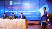 Tổng Giám đốc Tập đoàn Dầu khí Việt Nam (PVN) Nguyễn Vũ Trường Sơn phát biểu chúc mừng những thành tựu mà PV GAS đã đạt được trong năm 2017