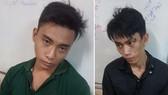 被移交予新興坊公安派出所的兩名劫匪。(圖源:HT)
