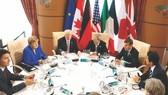 7國集團峰會的領導人討論會場。(圖源:互聯網)
