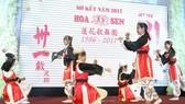 胡文強華文中心學生表演《筷子舞》。